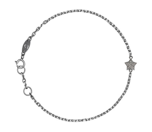 Браслет «Звезда» с белыми бриллиантами
