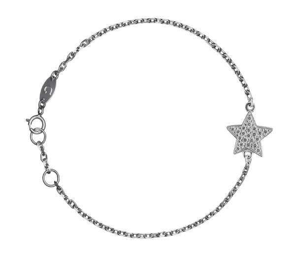 Браслет «Звезда» большая с белыми бриллиантами