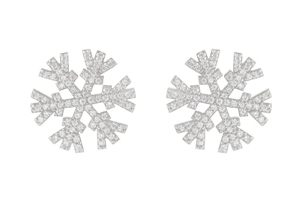 Серьги «Снежинки» в бриллиантах