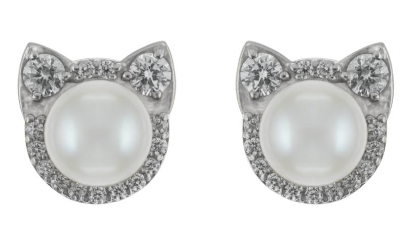 Серьги «Кошечки» с крупными бриллиантами