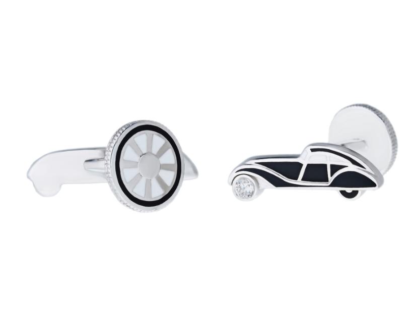 Запонки «CARS» в эмали