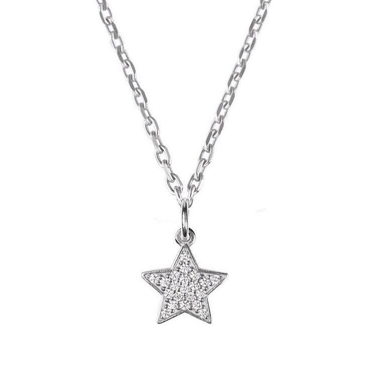 Подвеска «Звезда» с бриллиантами
