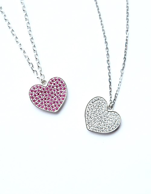 Подвеска «Сердце» с бриллиантами